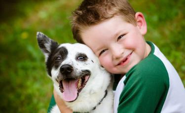 """Illustration : """"Les relations entre l'enfant et le chien"""""""