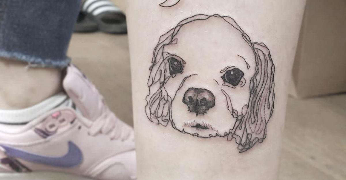 31 parmi les plus beaux tatouages faits en hommage aux chiens. Black Bedroom Furniture Sets. Home Design Ideas