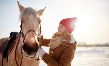 "Illustration : ""Travailler son cheval en hiver"""
